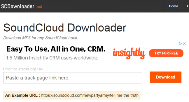 SoundCloud Downloader(scdownloader.net)