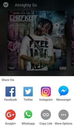 My Mixtapez social sharing
