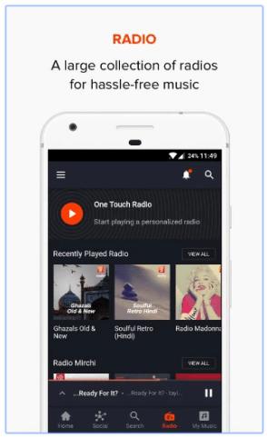 gaana radio app