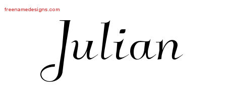 List of Synonyms and Antonyms of the Word: julian name