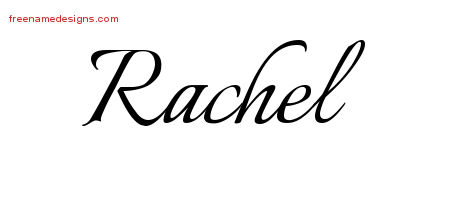 Top The Name Rachel In Cursive Images for Pinterest Tattoos