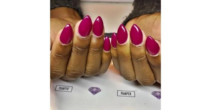 Mountain peak shape nail designs