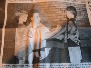 Teaching Karate at the Scottdale YMCA