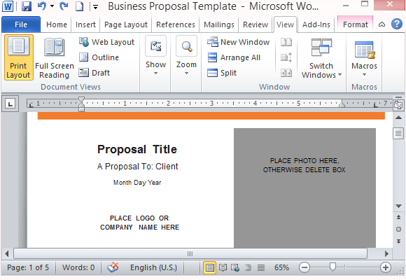 Proposal Templates Archives