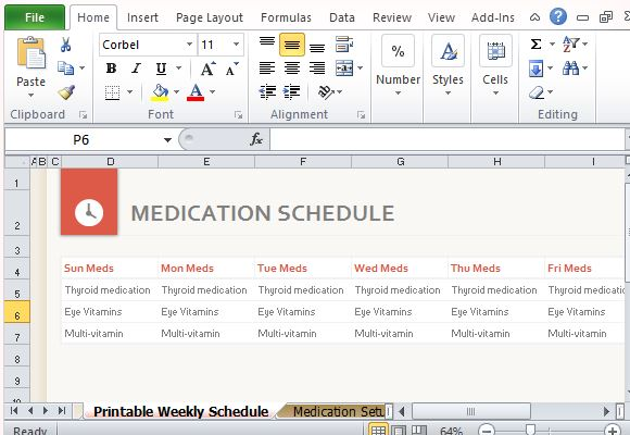 medication schedule template excel - April.onthemarch.co