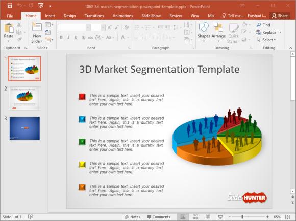 free 3d market segmentation powerpoint