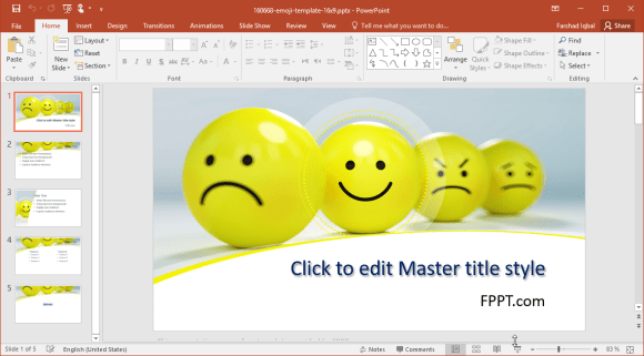 free emoji powerpoint template