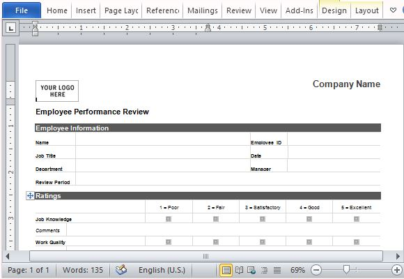 standard employee evaluation form - April.onthemarch.co