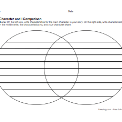 Venn Diagram Graphic Organizer Extension Cord Plug Wiring Character Compare Contrast Freeology