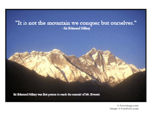Mt Everest Inspirational Quote Poster Freeology