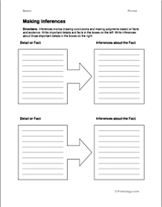 Making inferences chart also editable seating in word format freeology rh