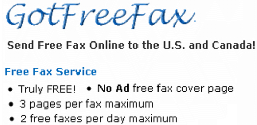 Free Fax With No Ad - List Of Services To Do So