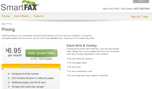 SmartFax - Free Internet Faxing for 30-Days