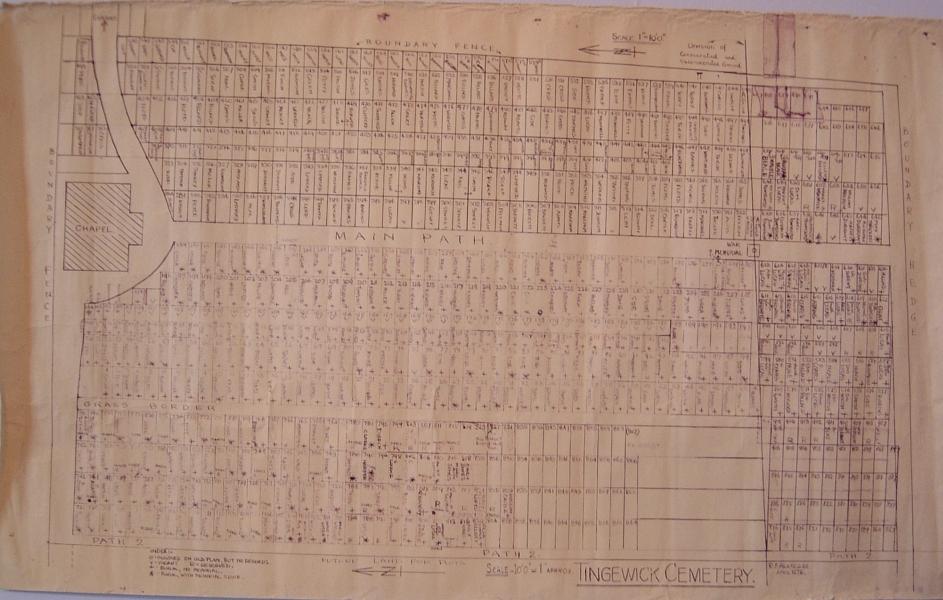 Plan of Tingewick cemetery