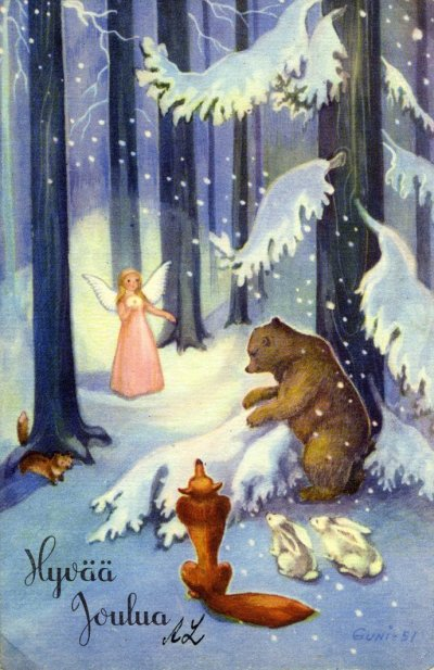 Joulukuusen Tuoksussa Rauhallista Ja Hyv Joulua Omat
