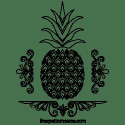 pineapple svg template stencil vector scroll pdf freepatternsarea printable saw designs