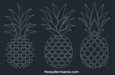 Printable Free Pineapple Silhouette Vectors FreePatternsArea