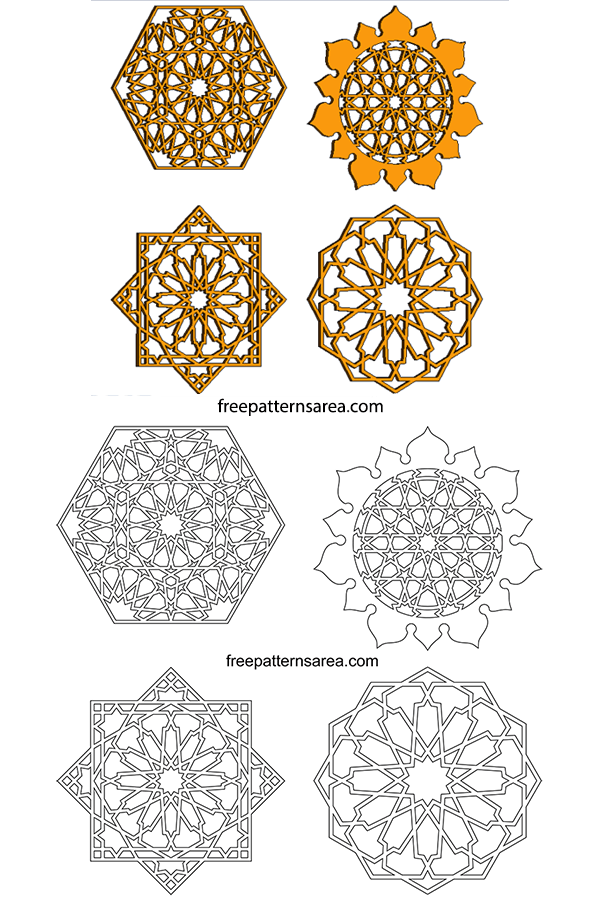 Ornament Islamic Vector Cdr : ornament, islamic, vector, Islamic, Geometric, Design, Graphics, Vectors, FreePatternsArea