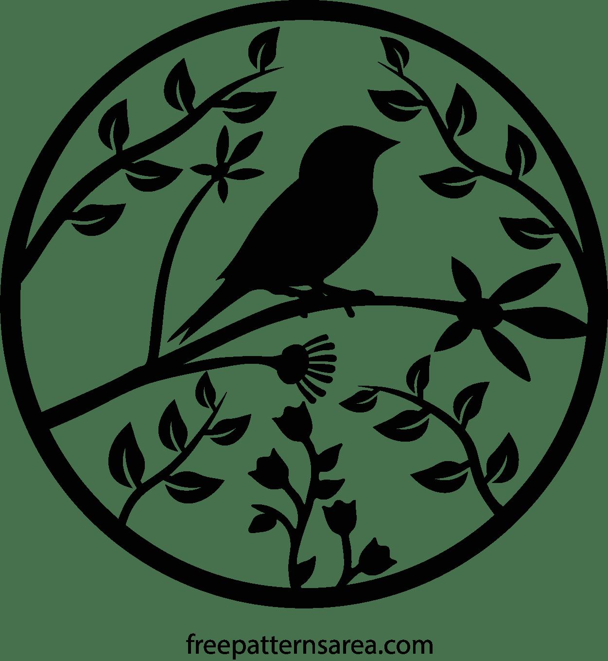 Bird Vector Printable Cut Pattern