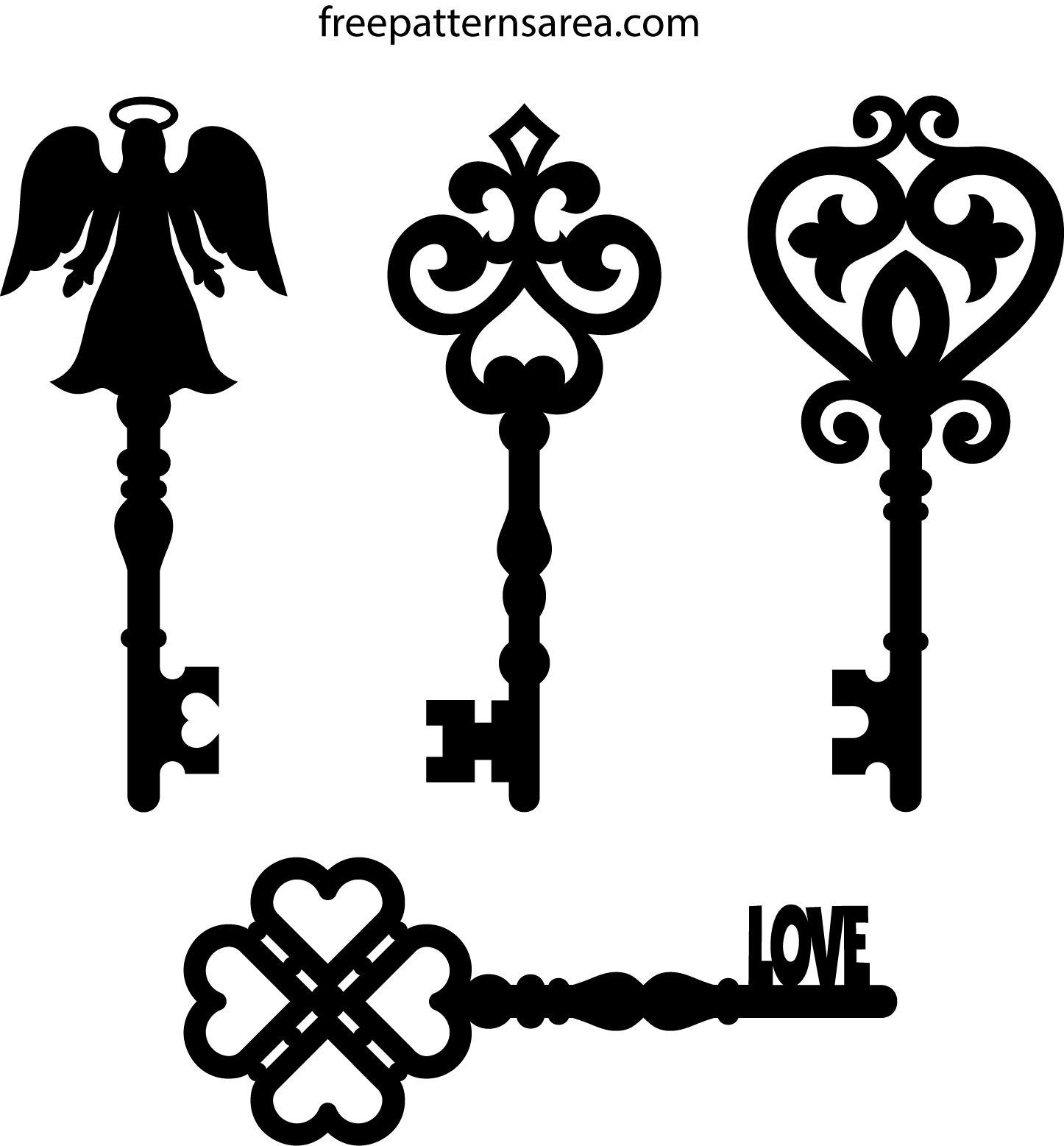 Old Key Clipart Vectors