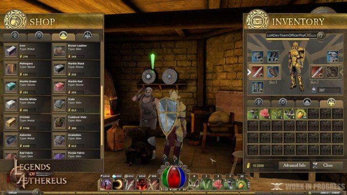 Legends of Aethereus ScreenShot 1