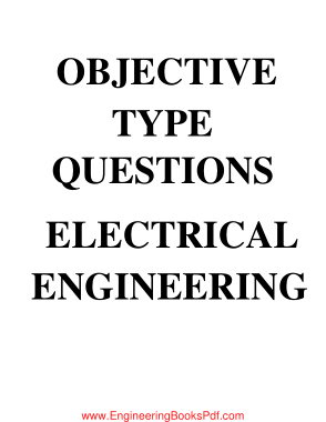 Objective Type Questions Electrical Engineering PDF