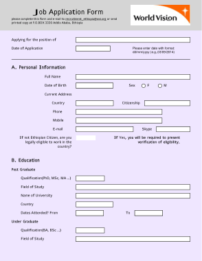 Download these job application letter templates in word, pages, pdf, google docs formats. Personal Information Job Application Form Template Free Download Free Pdf Books