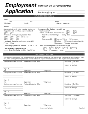 But many companies also request that a candidate complete a job application and submit it along with a resume. Company Employee Job Application Form Template Free Download Free Pdf Books