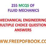 FLUID MECHANICS – Mechanical Engineering Multiple choice Questions Answers