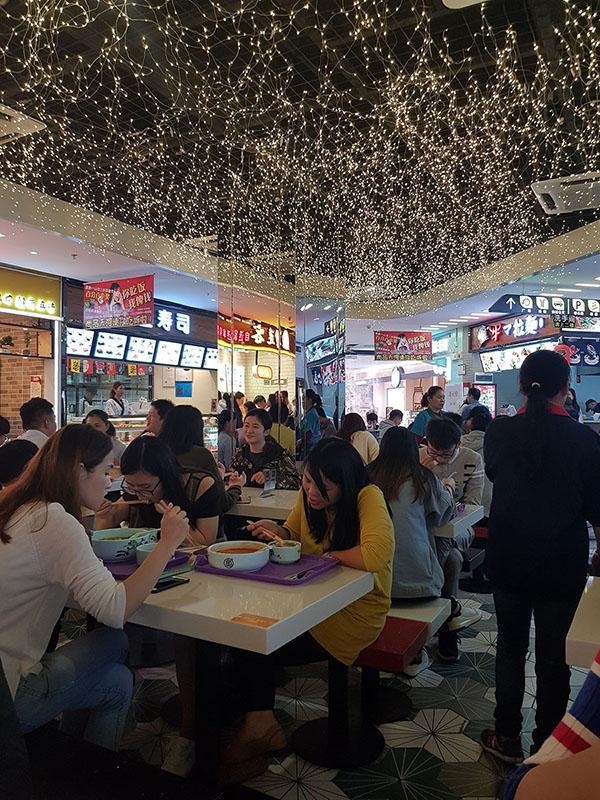 大陸工作中午吃飯常去的美食街