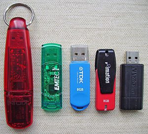 USB flash drives (capacity: 256 MB, 2 GB and t...