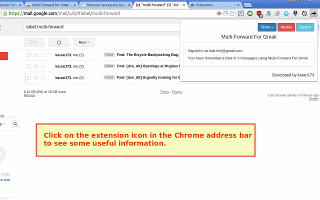 Browser Extension Gmail Hacker