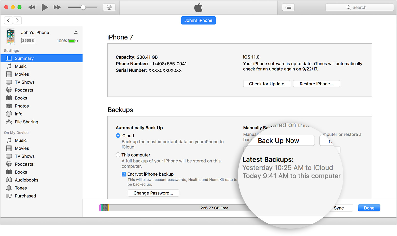 Way 3: Spying on the text messages Using iTunes Backup