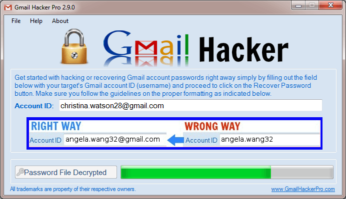 Way 2: Hack Gmail Password using Gmail password hack
