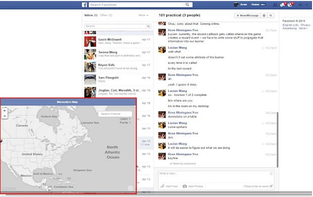 #1 Track a Facebook Friend using Marauders Map
