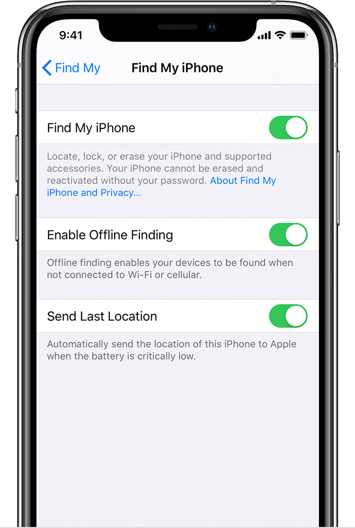 ENABLE FIND MY IPHONE ON YOUR IPHONE