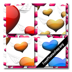 Glossy Hearts Pattern