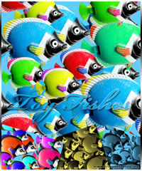 Colorful Fishes Pattern
