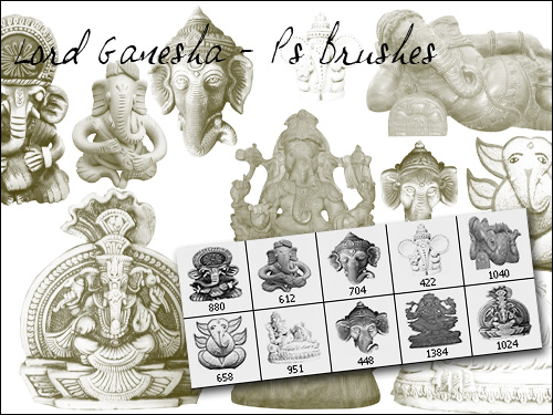 Lord Ganesha Brushes