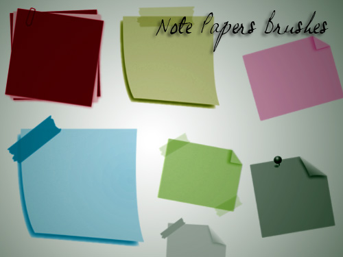 Paper Notes Brushes