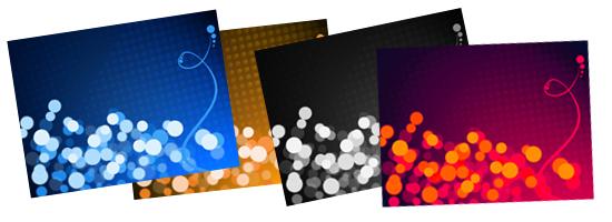 Cute Retro Style Defocused lights Backgrounds