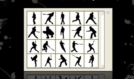 Baseball Shapes Silhouettes