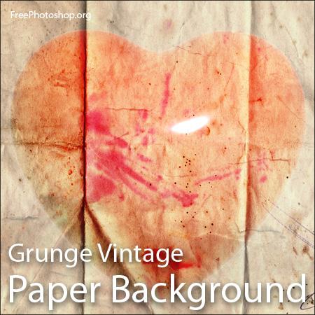 Grunge Vintage Love Paper