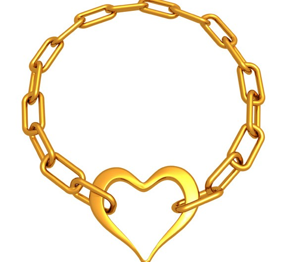 Golden Chain and Heart Psd and Picture