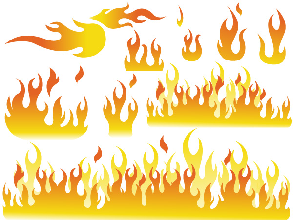 Free Flames Brushes, Shapes, PNG, Pictures & Vectors