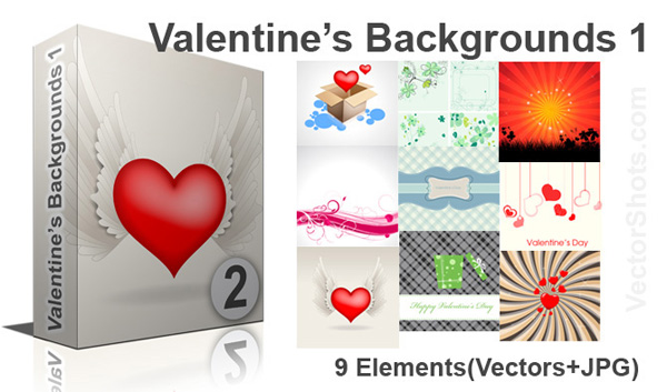 Valentines Backgrounds Vectors Pictures