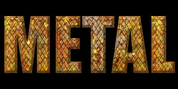 grunge metal text effect