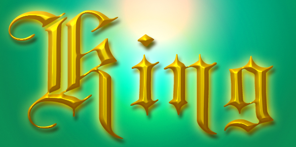 royal gold text effect