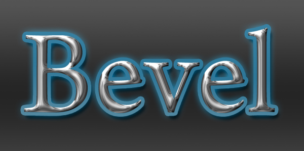 beveled text effect