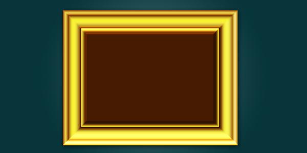 gold frame psd